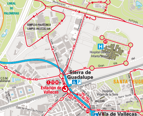 mapa transportes