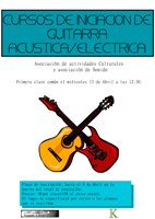 Cartel Curso Guitarra