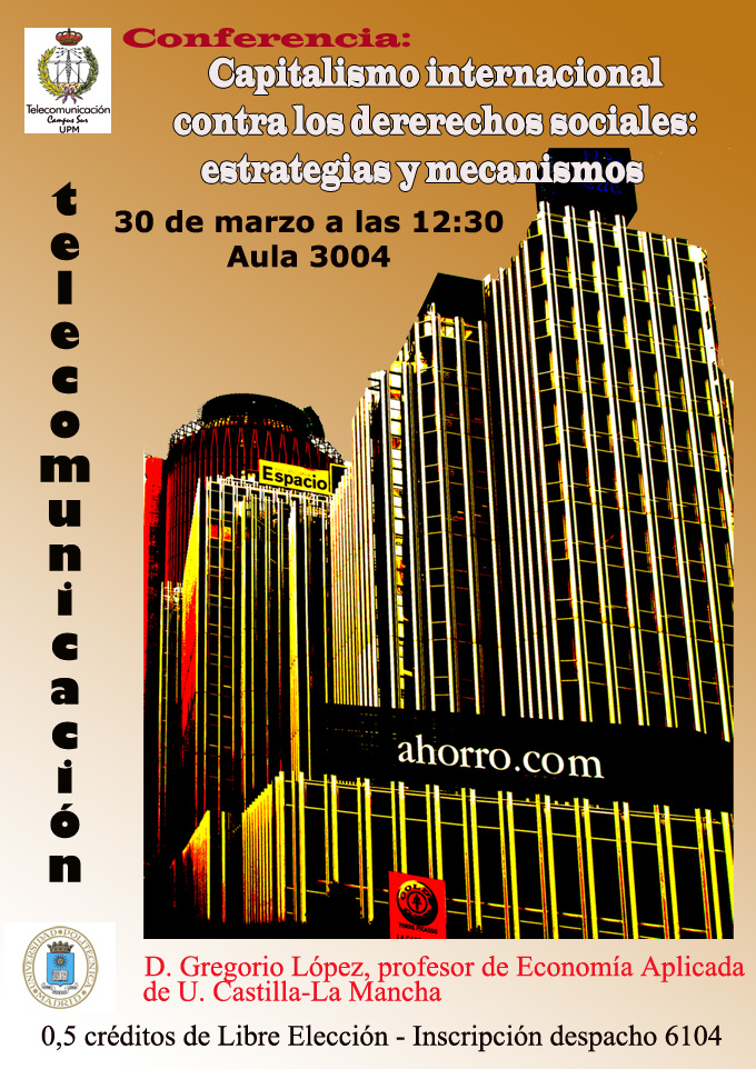 Cartel Conferencia Capitalismo