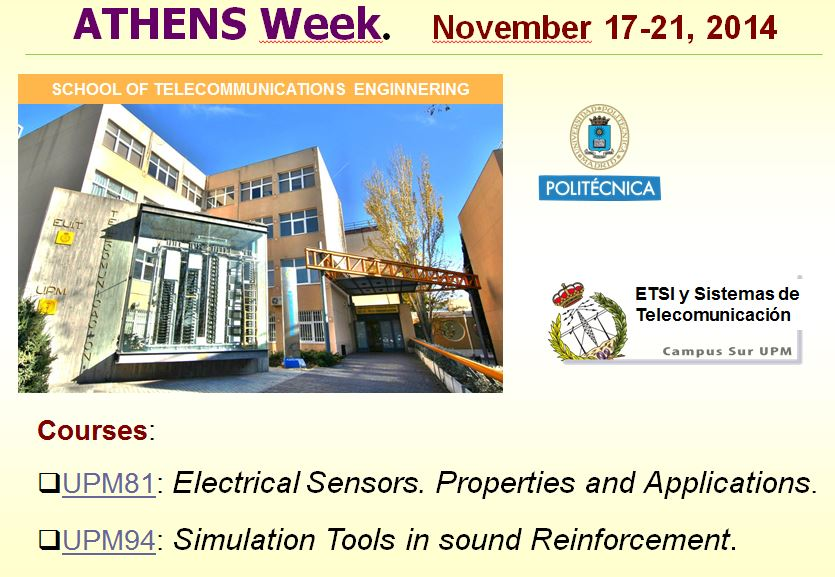 Athens courses, ETSIST, nov-2014
