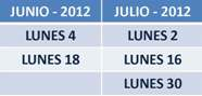 Fechas Defensor Universitario